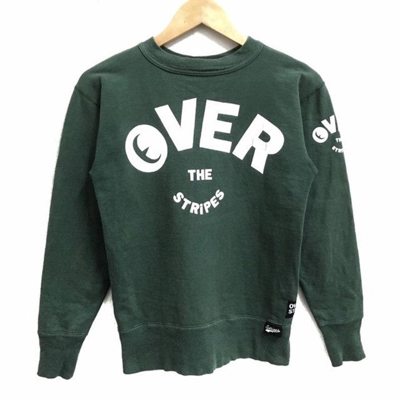 5f2c08301b872 RARE!!! Over The Stripes Gremmie Big Logo Green Colour Crew Neck  Sweatshirts Jumper Pullover XS Size