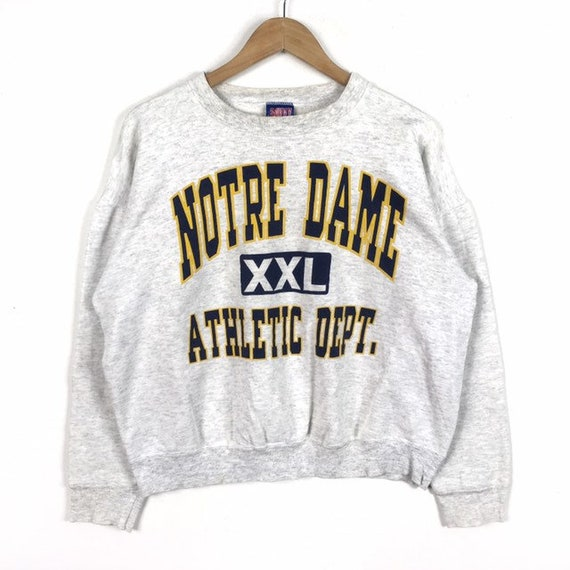Rare!!! Vintage NOTRE DAME Athletic Sportswear Big