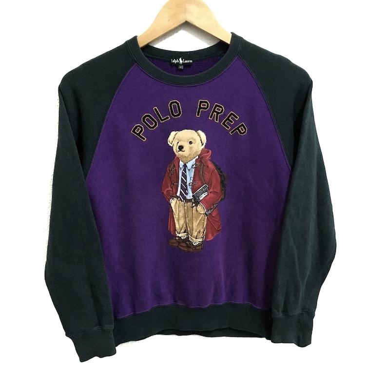 da0ffc06a1bf8 RARE!!! Polo Bear By Ralph Lauren Big Logo Raglan Colour Crew Neck  Sweatshirts Jumper Pullover 140 (Boys) Size