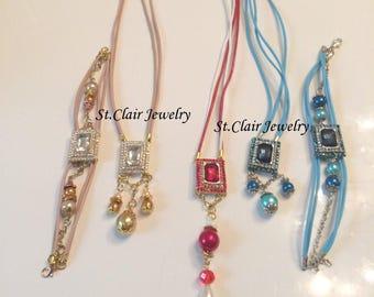 Swarovski Elements, necklace, bracelet, jewelry set