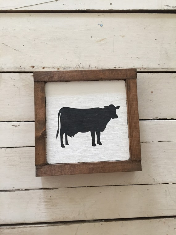 Wood Cow Sign Handmade Mini Wooden Cow Sign Farmhouse Sign Etsy