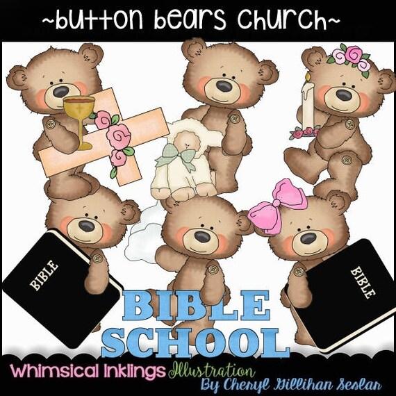 Religiöse Cliparts Taufe Clipart Kinder Clipart Baby Clipart Sofort Download Button Bären Kirche Kommerzielle Nutzung