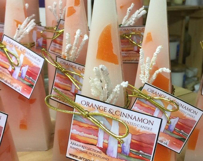 Orange & Cinnamon Pyramid Candle