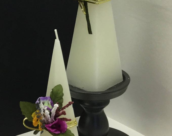Non Scented Pyramid Candle