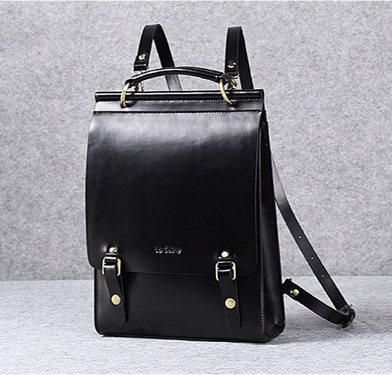 e9b190fc456c Leather backpack women leather laptop bag leather minimalist