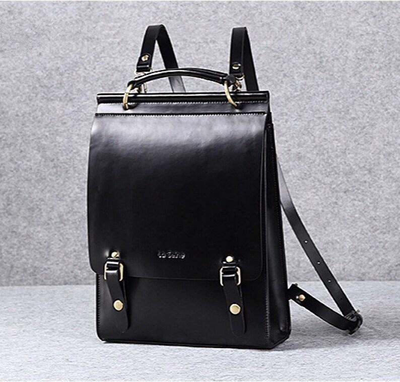 492b98728ee Leather backpack women leather laptop bag leather minimalist shoulder bag  school bag backpack vintage backpack