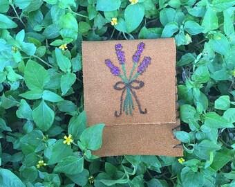 Lavender Flower Pouch