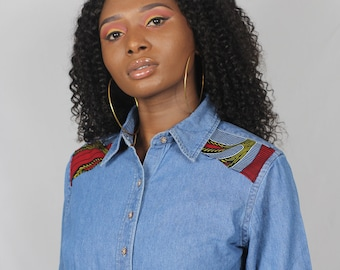 INI women's denim shirt