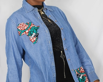 PEMI women's denim shirt