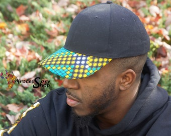 structured ankara hat