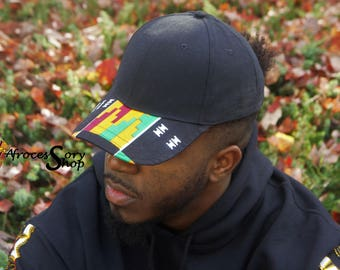 Structured kente hat