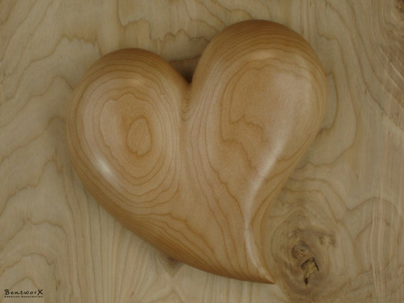 "Remembrance Gift | Pacific Big Leaf Maple Large ""Beautifully Whimsical"" Heart 