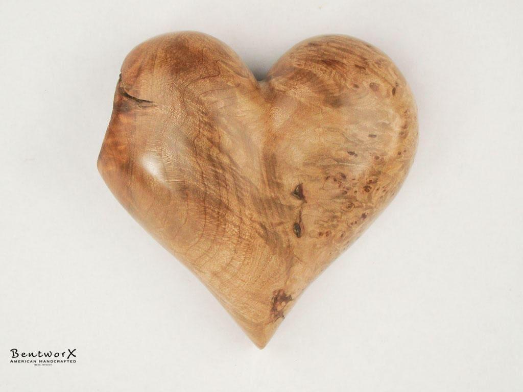 Broken Heart Beautiful Wooden Heart | Antique Maple Burl Heart Wall Art | Bentworx™ & Broken Heart Beautiful Wooden Heart | Antique Maple Burl Heart Wall ...