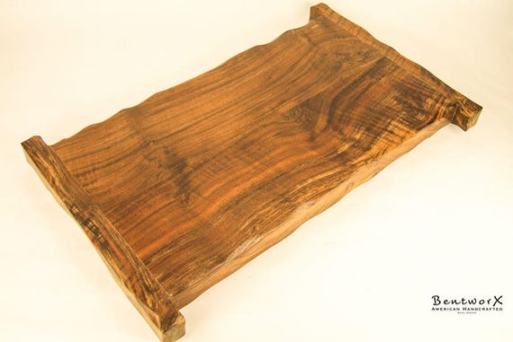 Bentworx™ Decorative, Extra Large Wood Serving Tray