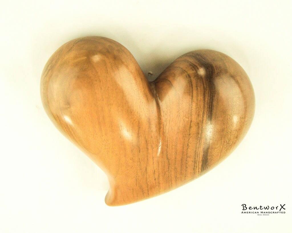 Gift Beautiful Whimsical English Walnut Heart Wall Art | Bentworx™