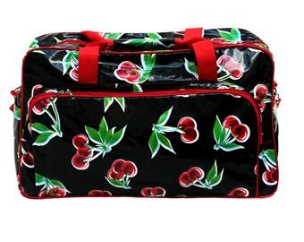 waterproof beach bag xl bag travel bag weekender gym bag Cerezas black