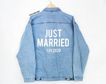 Just Married Individuelle Jeans Jacke Hochzeit Jacke Etsy