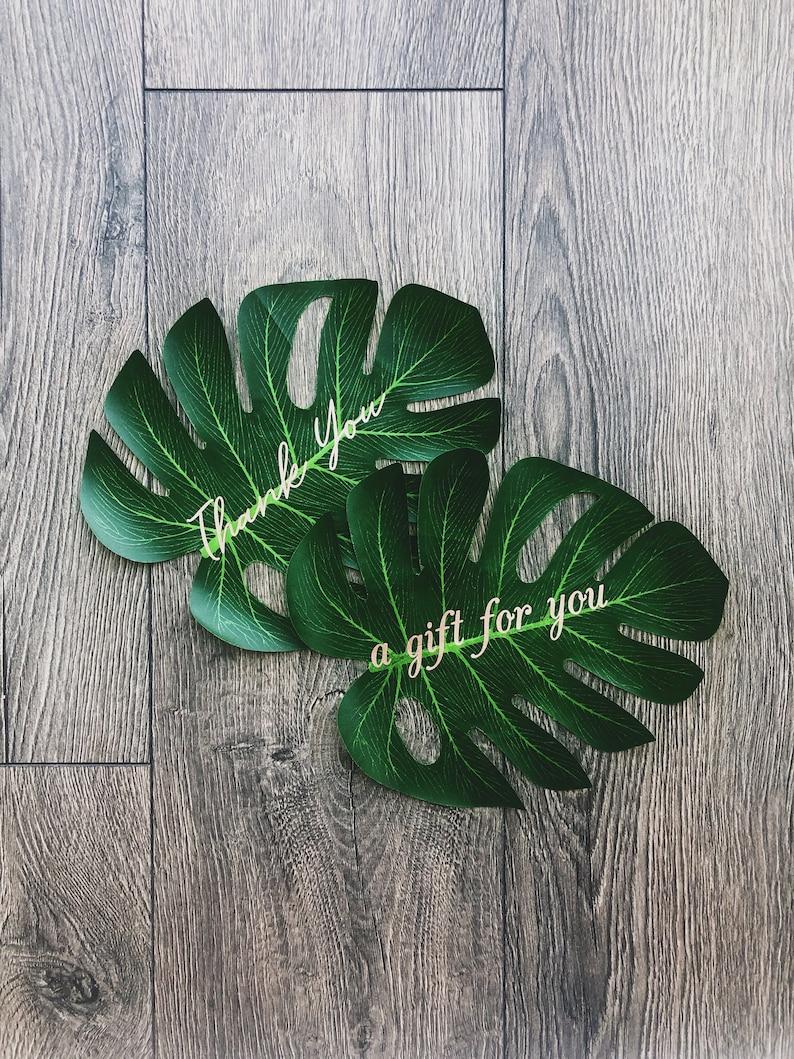 tropical leaf tag gift tag gift tags tropical leaves leaf gift tag custom gift tag wedding favors tropical wedding tropical leaf