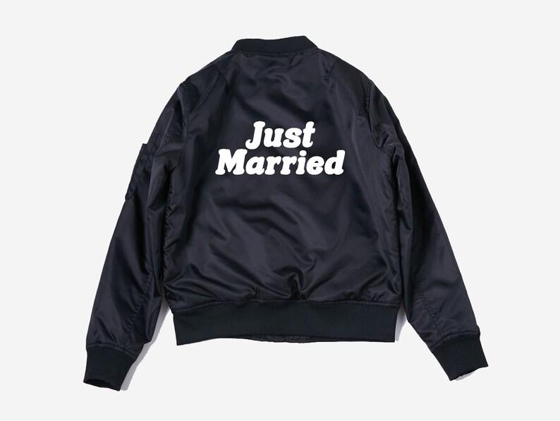 3f01e6878 Just Married Jacket, Custom bomber, honeymoon gift, custom bomber jacket,  just married, wedding gift, wedding shirt - wedding, bride shirt