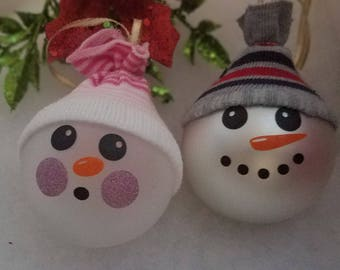 Snowboy and Girl Ornament