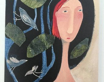 Art Card - Woman with long neck