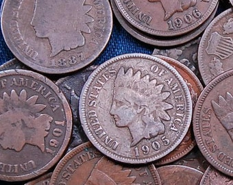 11 Different dated Indian Head pennies