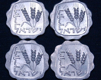 16 Scalloped Coins With Wheat Stalks 20mm