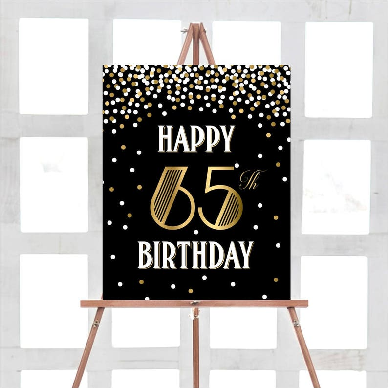 Happy 65th Birthday Sign