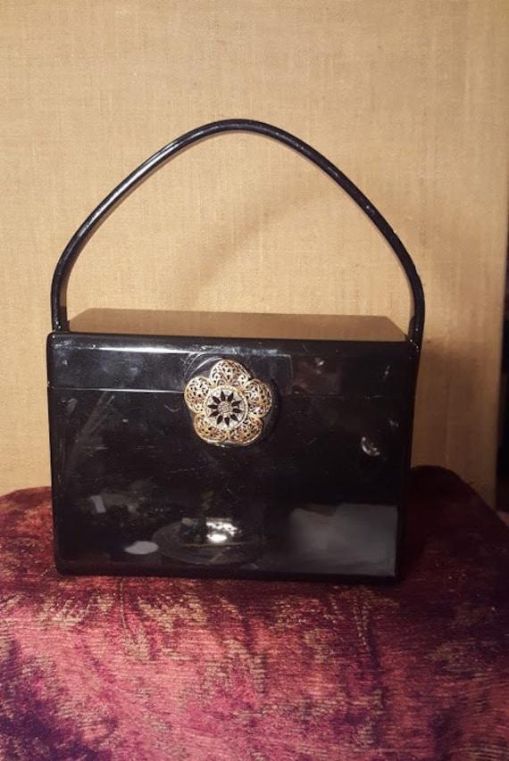 Vintage 1950's Wilardyblack lucite Handbag