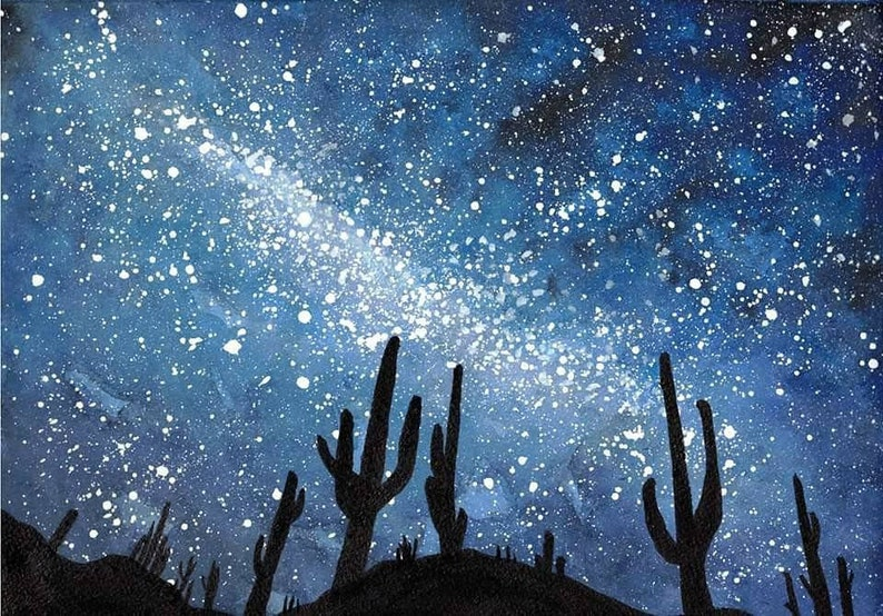 Desert Galaxy Holographic Poster Print image 0