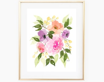 Soft Floral Bouquet - INSTANT DOWNLOAD