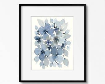 SALE! Blue Flowers 8x10 Original Art