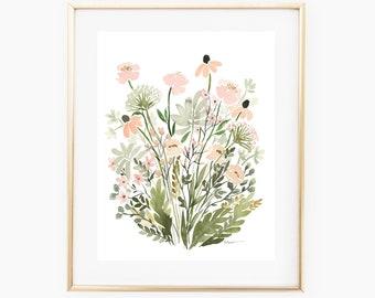 Blush Wildflowers - INSTANT DOWNLOAD