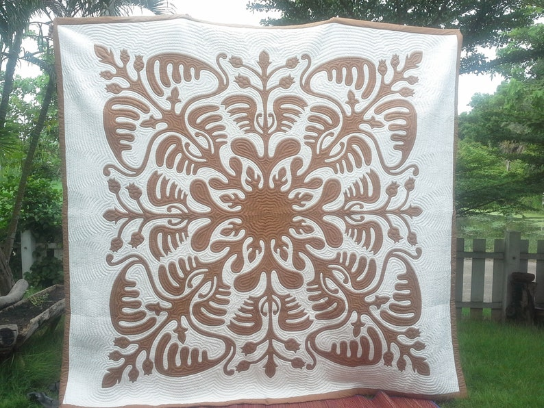 Country quilts reverse applique quilt aloha hawaiian etsy