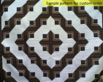 Amish Quilts, Patchwork Quilt, log cabin quilts, Amish patchwork, Hand Made, Home made, beige, brown, walnut, coffee, mocha, quilts, quilted