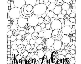 Whimsical Art & Happy Adult Coloring Books by