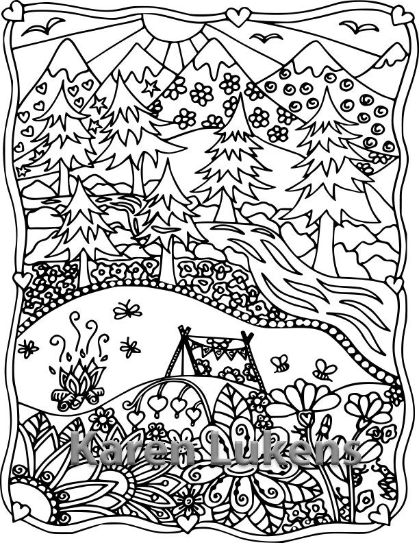 It's just a picture of Wild Free Printable Camping Coloring Pages