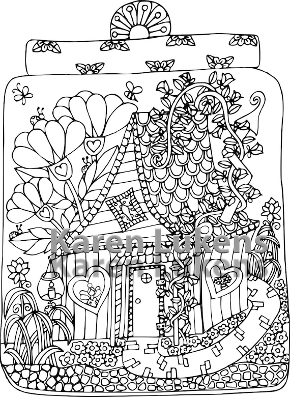 Fairy House 3 1 Adult Coloring