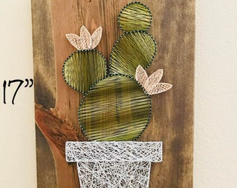 Blossomed Cactus String Art (large)