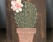 Solo cactus string art potted cactus rustic cactus nursery decor baby room