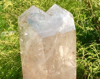 14 LB Huge Tantric Twin Smoky Citrine Double Point Cathedral Crystal ~ Twin Flame ~ Soul Mates ~ Bedroom, Lovers, Divine Union ~ Polished ~