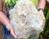 24 LB Massive Clear Quartz Crystal Gorgeous Display Cluster Feng Shui Centerpiece God 39 s Art Entryway Zen, Meditation, Reik
