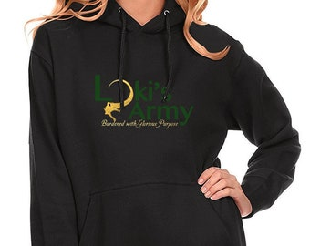 9322021d Loki's Army Loki Laufeyson Odinson- T-shirt/Unisex Pullover BLACK Sweatshirt  Glorious Purpose