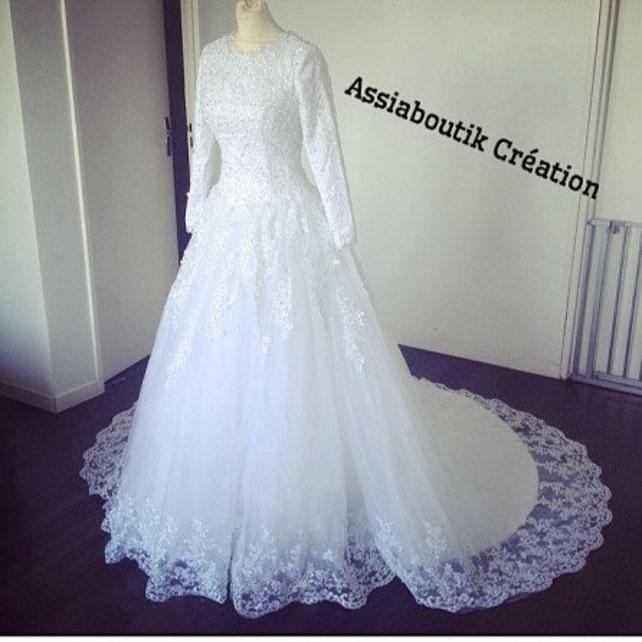 Hijab weding dress muslim wedding dress modest dress | Etsy