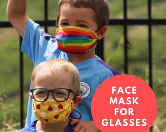 Kids Face Mask - Best Mask for Kids - Best Mask for Kids with Glasses