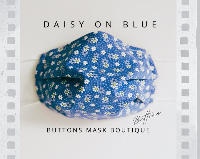 Mask for Glasses - Anti Fog Face Mask - Daisy Face Mask