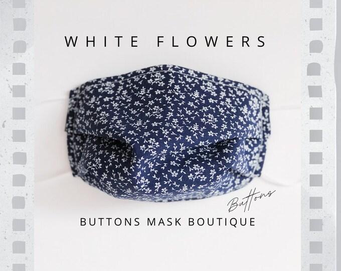Mask for Glasses - Anti Fog Face Mask - Flower Face Mask