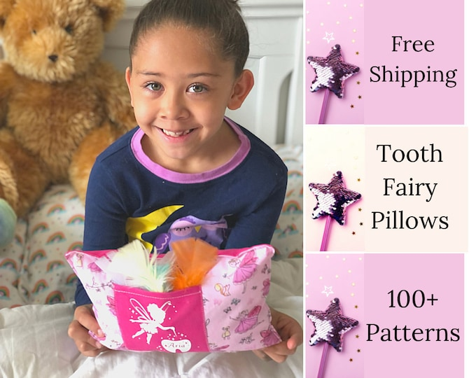 Tooth Fairy Pillow - Tooth Fairy Pillow for Girls - Tooth Fairy Pillow for Boys - Kids Gifts - Tooth Fairy