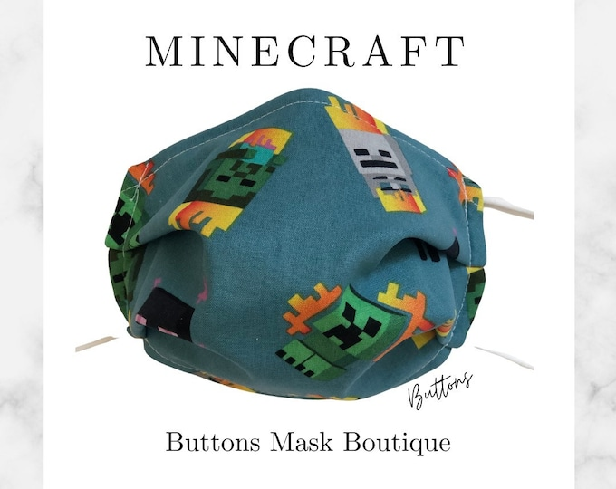 Minecraft Face Mask- Anti Fog Face Mask - Face Mask for Glasses