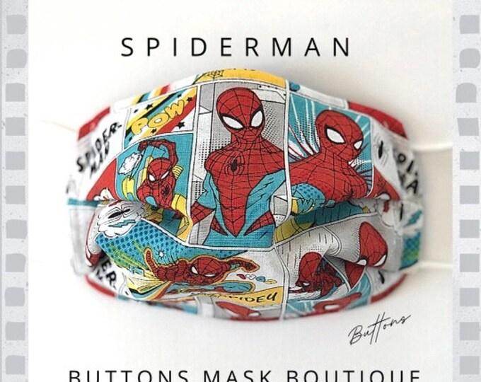 Spiderman Face Mask - Anti Fog Face Mask - Face Mask for Glasses - Super Hero Face Mask